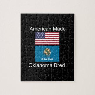 """""""American Born..Oklahoma Bred"""" Flag Design Puzzle"""