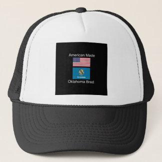 """American Born..Oklahoma Bred"" Flag Design Trucker Hat"