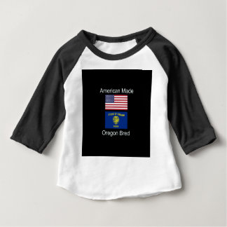"""""""American Born..Oregon Bred"""" Flags and Patriotism Baby T-Shirt"""