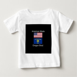 """American Born..Oregon Bred"" Flags and Patriotism Baby T-Shirt"