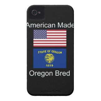 """American Born..Oregon Bred"" Flags and Patriotism Case-Mate iPhone 4 Cases"
