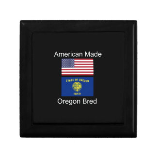 """American Born..Oregon Bred"" Flags and Patriotism Gift Box"