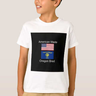 """American Born..Oregon Bred"" Flags and Patriotism T-Shirt"