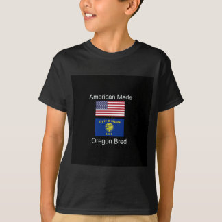 """""""American Born..Oregon Bred"""" Flags and Patriotism T-Shirt"""