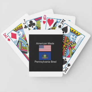 """""""American Born..Pennsylvania Bred"""" Flag Design Bicycle Playing Cards"""