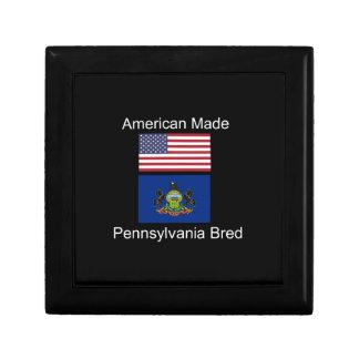 """American Born..Pennsylvania Bred"" Flag Design Gift Box"