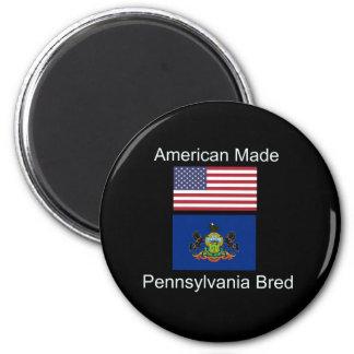 """American Born..Pennsylvania Bred"" Flag Design Magnet"
