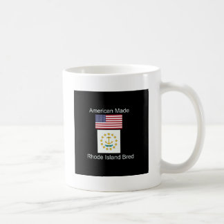 """""""American Born..Rhode Island Bred"""" Flag Design Coffee Mug"""