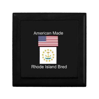 """American Born..Rhode Island Bred"" Flag Design Gift Box"