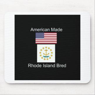 """American Born..Rhode Island Bred"" Flag Design Mouse Pad"