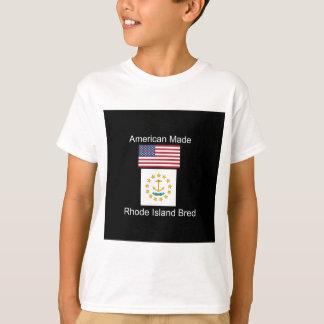"""American Born..Rhode Island Bred"" Flag Design T-Shirt"