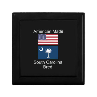 """American Born..South Carolina Bred"" Flag Design Gift Box"