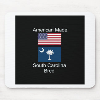 """American Born..South Carolina Bred"" Flag Design Mouse Pad"