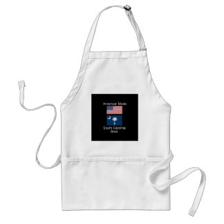 """American Born..South Carolina Bred"" Flag Design Standard Apron"