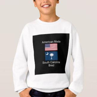 """American Born..South Carolina Bred"" Flag Design Sweatshirt"