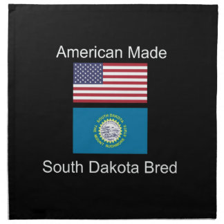 """American Born..South Dakota Bred"" Flag Design Napkin"