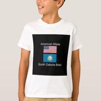 """American Born..South Dakota Bred"" Flag Design T-Shirt"