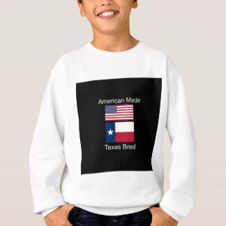 """American Born..Texas Bred"" Flags and Patriotism Sweatshirt"
