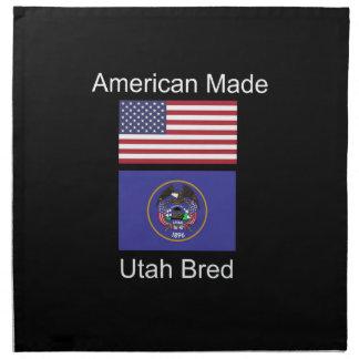 """""""American Born..Utah Bred"""" Flags and Patriotism Napkin"""