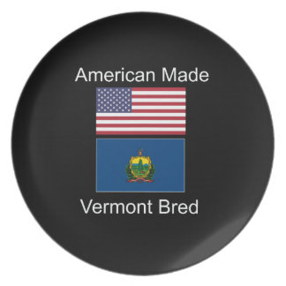 """American Born..Vermont Bred"" Flags and Patriotism Plates"