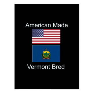 """American Born..Vermont Bred"" Flags and Patriotism Postcard"