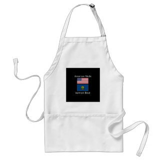 """""""American Born..Vermont Bred"""" Flags and Patriotism Standard Apron"""