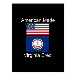 """American Born..Virginia Bred"" Flag Design Postcard"