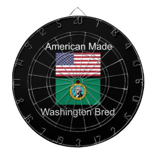 """American Born..Washington Bred"" Flag Design Dartboard"