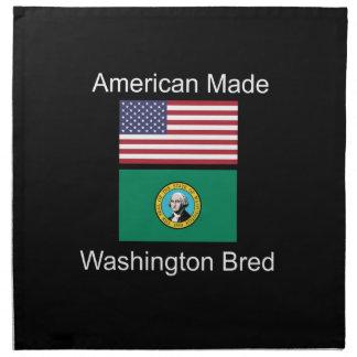 """American Born..Washington Bred"" Flag Design Napkin"