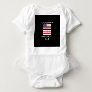 """American Born..Washington, D.C. Bred"" Flag Design Baby Bodysuit"