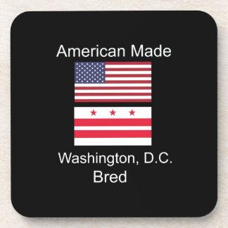 """American Born..Washington, D.C. Bred"" Flag Design Coaster"