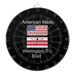 """American Born..Washington, D.C. Bred"" Flag Design Dartboard"