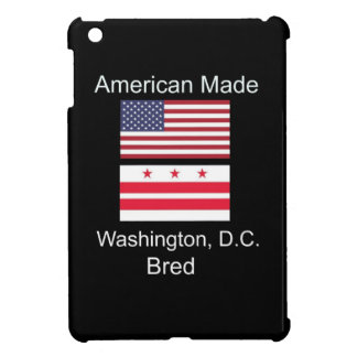 """American Born..Washington, D.C. Bred"" Flag Design iPad Mini Cover"