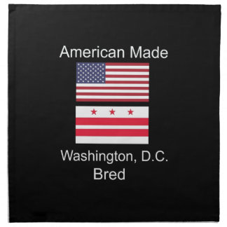 """American Born..Washington, D.C. Bred"" Flag Design Napkin"
