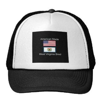 """""""American Born..West Virginia Bred"""" Flag Design Cap"""