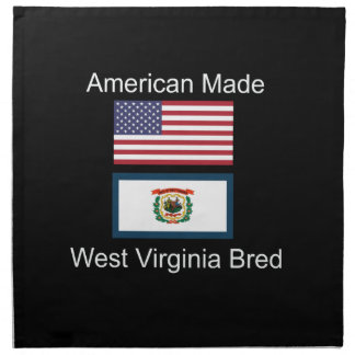 """American Born..West Virginia Bred"" Flag Design Napkin"