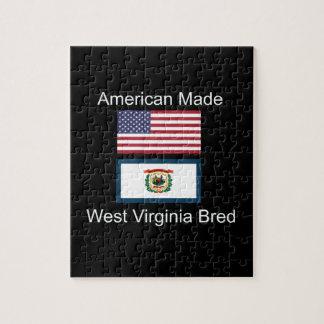 """""""American Born..West Virginia Bred"""" Flag Design Puzzle"""