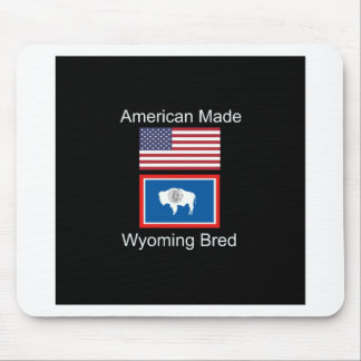 """American Born..Wyoming Bred"" Flags and Patriotism Mouse Pad"