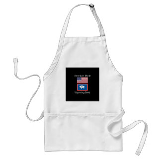 """""""American Born..Wyoming Bred"""" Flags and Patriotism Standard Apron"""