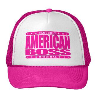 AMERICAN BOSS - Proud Patriot Entrepreneur, Pink Cap