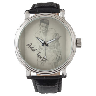 American Boxer Art Sketch Watches