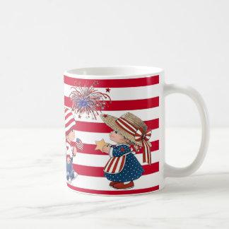 American Boy and Girl Patriotic Mug