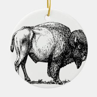 American Buffalo Bison Ceramic Ornament
