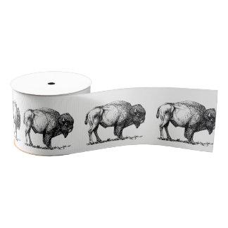 American Buffalo Bison Grosgrain Ribbon