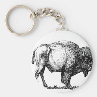American Buffalo Bison Key Ring