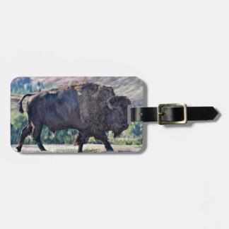 American Buffalo Bison Luggage Tag