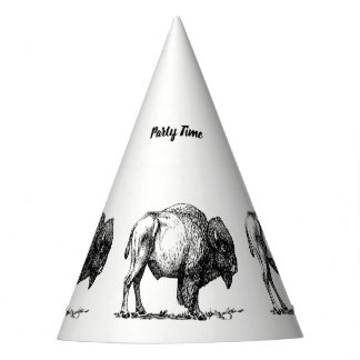 American Buffalo Bison Party Hat