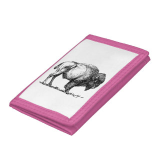 American Buffalo Bison Trifold Wallets