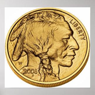 American Buffalo Gold Bullion Coin Poster