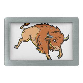 American Buffalo Jumping Mono Line Belt Buckle